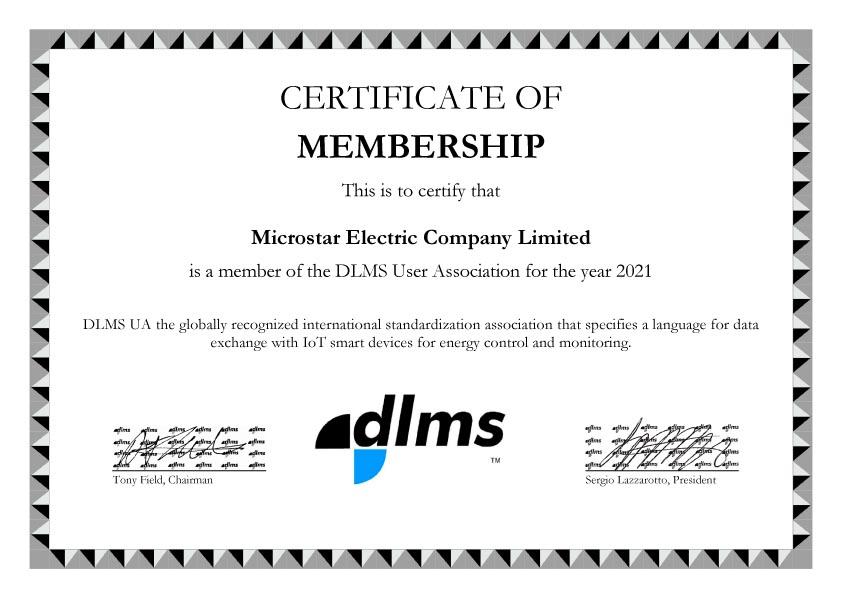 Microstar DLMS Certificate of Membership
